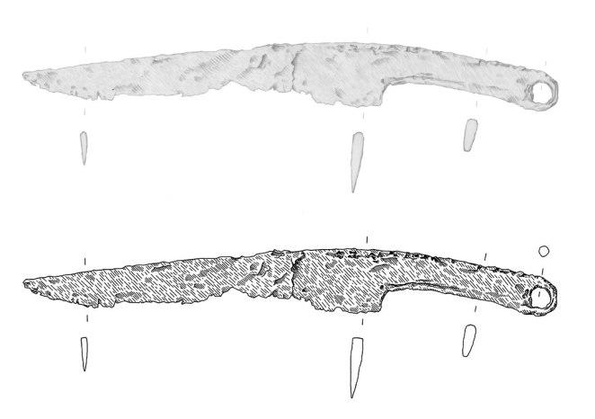 keltisches Eisenmesser, 2./3. Jahrhundert v.Chr.